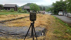 畑に監視カメラ設置
